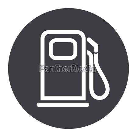 fuel pump circle grey icon