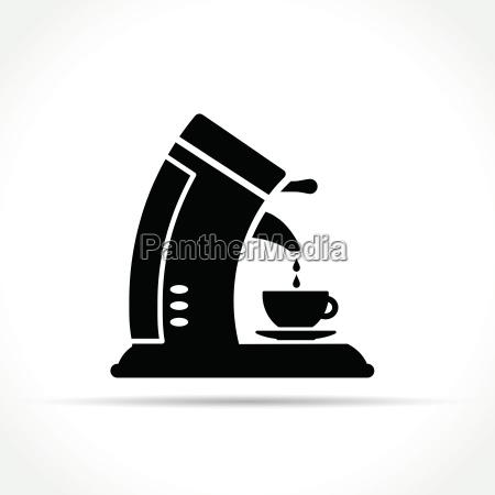 coffee machine icon on white background