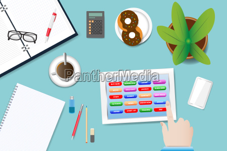 office table vector concept