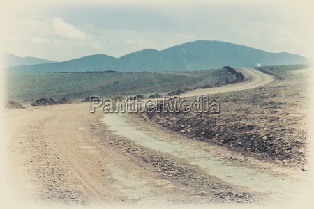 muddy road in tibet