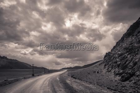 mountain road in western tibet