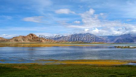 tibetan lake and landscape