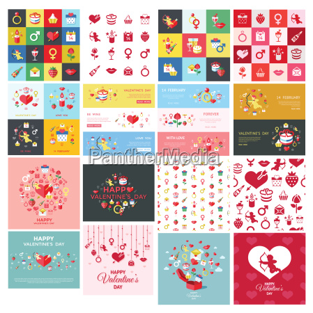 digital vector february happy valentine day