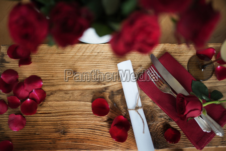 romantic still life for valentines day