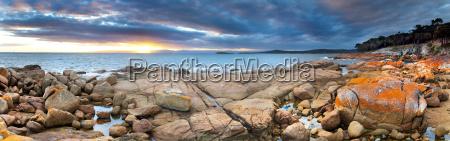 panoramic view of colorful granite rocks