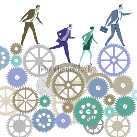 business people in competition symbol illustration