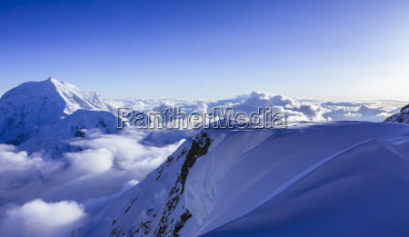mountain landscape of alaska range with