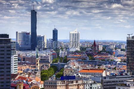 austria vienna cityscape with skyline