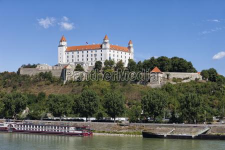 slovakia bratislava bratislava castle at danube