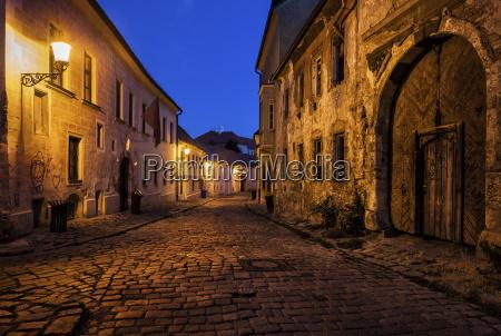 slovakia bratislava old town at night
