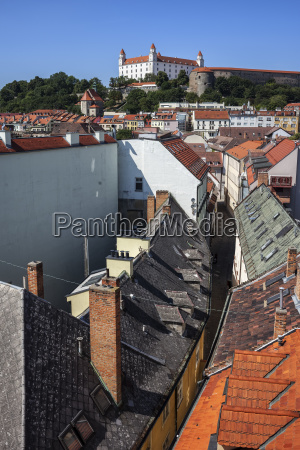slovakia bratislava historic center view over