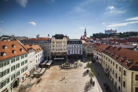 slovakia bratislava cityscape old town main