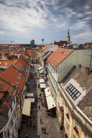 slovakia bratislava old town view over