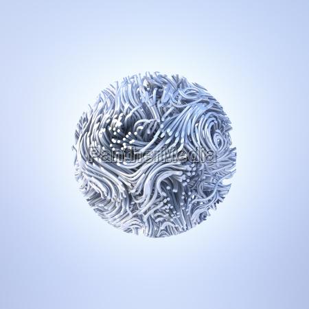 abstract metal sphere 3d rendering