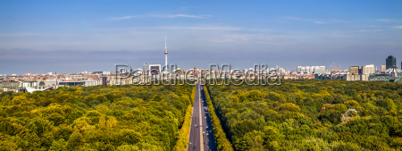 germany berlin elevated city view from