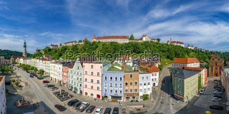 germany bavaria burghausen panoramic city view