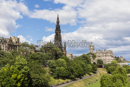 great britain scotland edinburgh scott monument