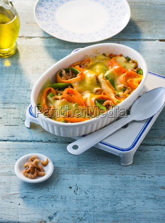 casserole of north sea shrimps carrots