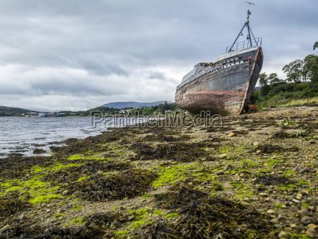 uk scotland highland loch linnhe ship