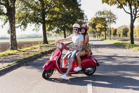 portrait of happy young couple on