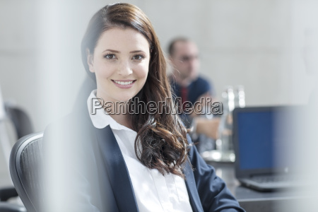 portrait of smiling businesswoman on a