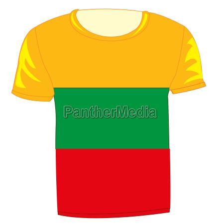 flag state lithuania on cloth