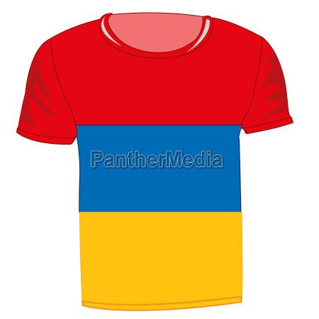 t shirt mit flagge armenien