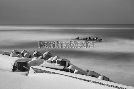 horizont winter asien kalt kaelte strand