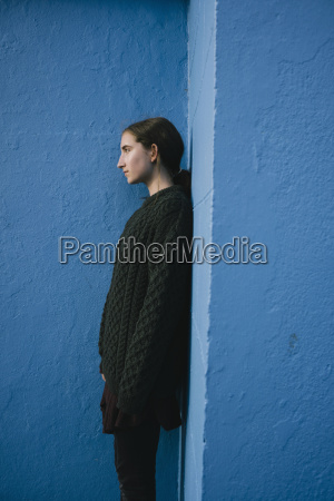 portrait of teenage girl with brown