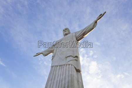 low angle view of colossal christ