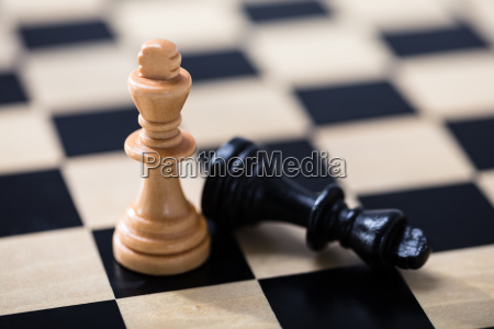 king chess piece on chess game