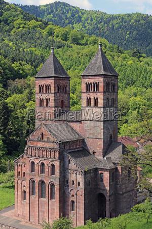romanische abteikirche von murbach im elsass