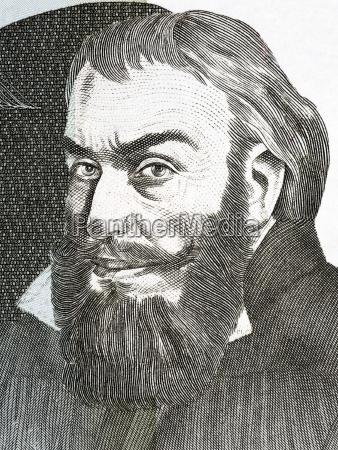 portrait portraet potrait bildnis brustbild reformator