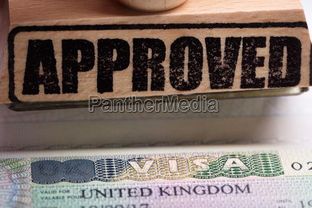 approved stamp and uk visa