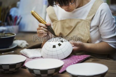 close up of woman working in