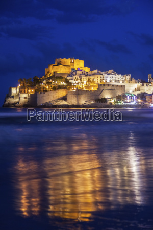spain valencian community peniscola town with