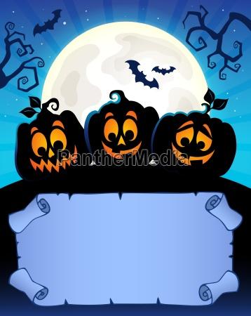 kleine pergament und halloween kuerbisse 2