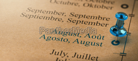 focus on august months of the