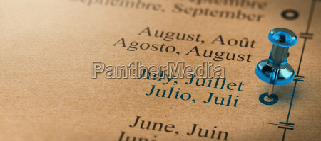 focus on july months of the