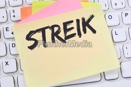 streik streiken demonstration demo protest business