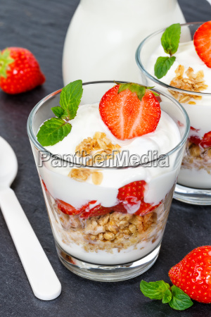 strawberry yoghurt strawberry yoghurt strawberry glass