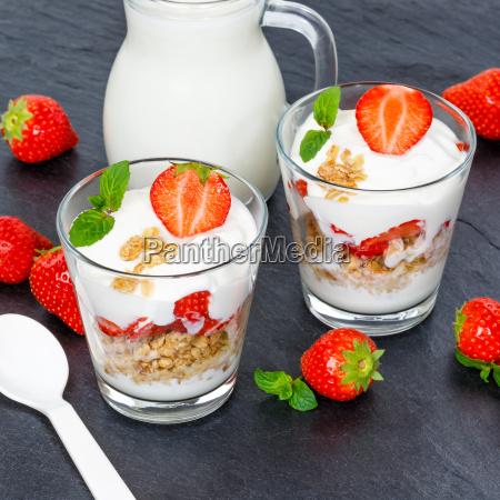 strawberry yogurt strawberry yogurt strawberry glass