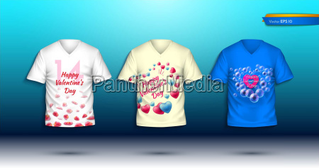 happy valentine day t shirts vector