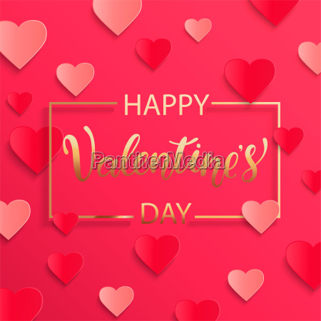 card for happy valentines day vector