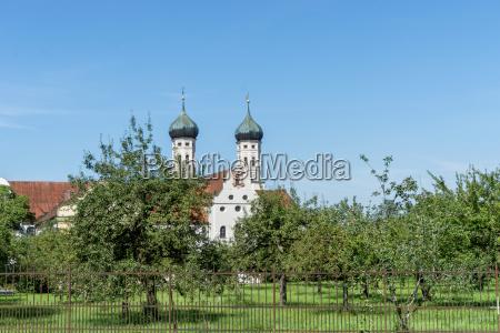 orchard in front of benedictbeuern monastery