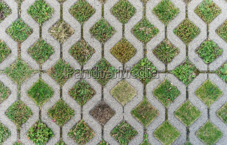 top view of gray paving stones