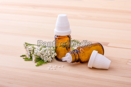 homeopathic remedy with flowering yarrow with