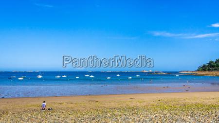 panoramic view of beach plage de