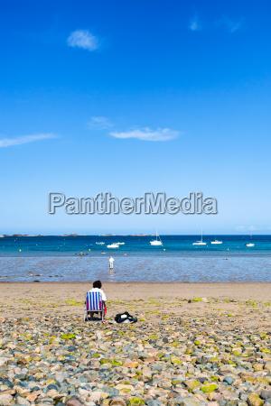 beach plage de la baie de