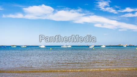 boats near beach plage de la